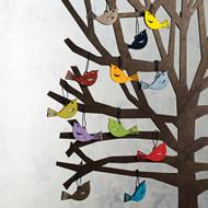 Finch Ornaments - Wooden (8821305)