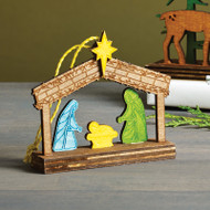 Nativity Ornament - Wooden (8821454)