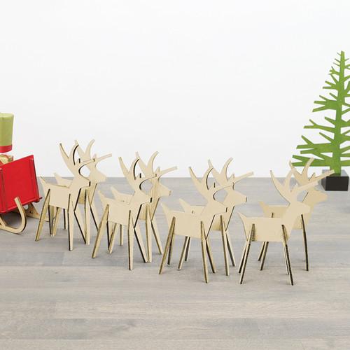 Alpine Reindeer - Set/8-Natural (8821741)