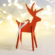 Alpine Reindeer Ornament - Wooden (8821888)