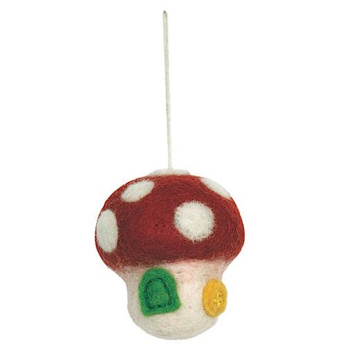 Mushroom House Felt Ornament (47119)