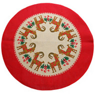 Jute Tree Skirt - Julbock/Straw Goat (1132J)