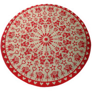 Jute Tree Skirt - Scandinavian Traditions (1222J)
