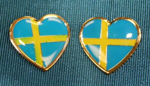 Sweden Flag Earrings (Posts) - Enamel (100EPS)