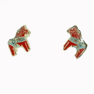 Dala Horse Earrings (Posts) - Enamel (104EP)