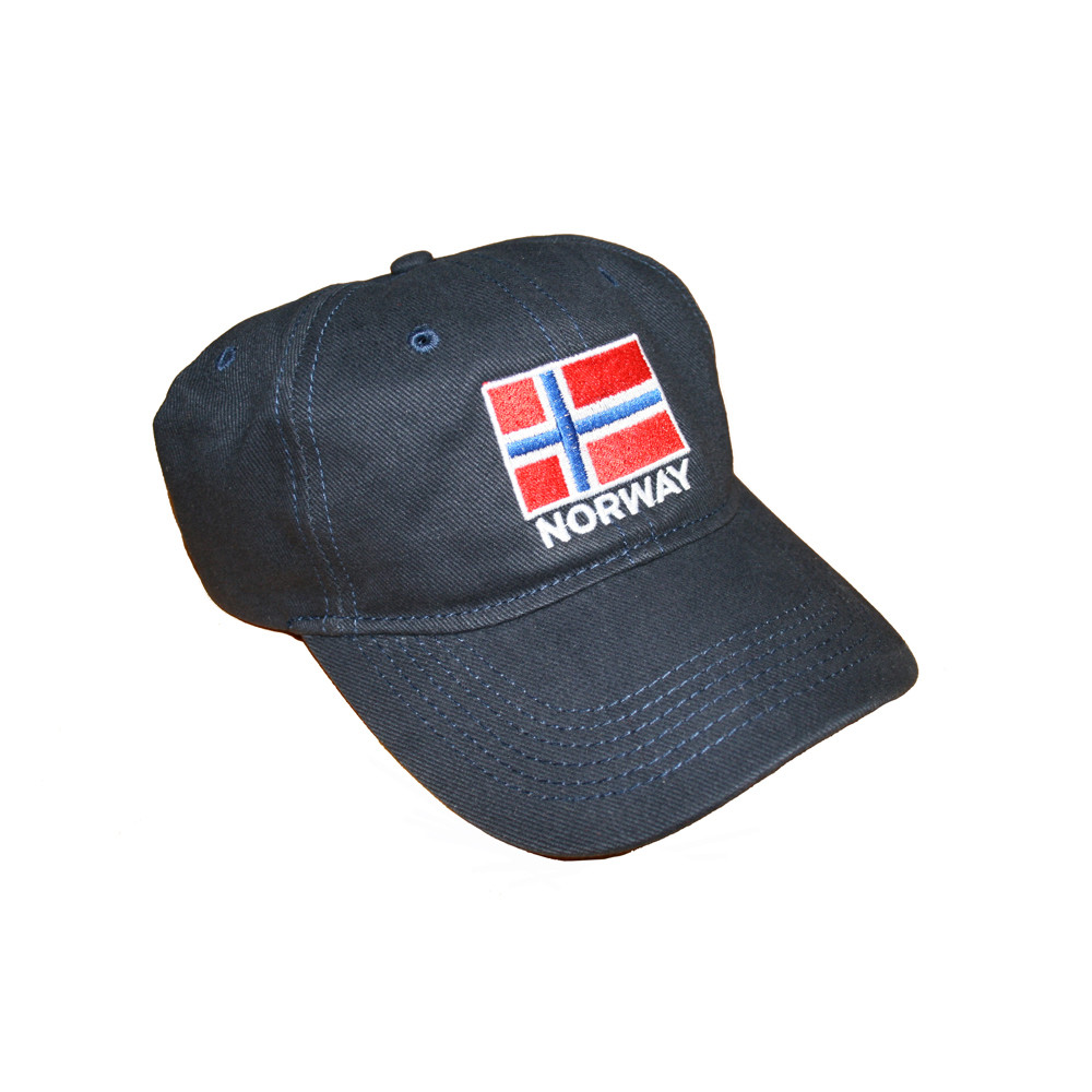 ce81b2e6f7f ScandinavianShoppe.com - Norway Flag Embroidered Cap Golf Hat (GC-N)