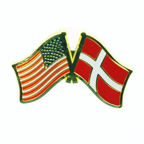 USA & Denmark Flag Lapel Pin - Tie Tack (LP-UD)