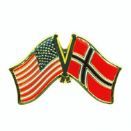 USA & Norway Flag Lapel Pin - Tie Tack (LP-UN)