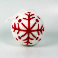 White Felt Nordic Ornament (H1-1064W)