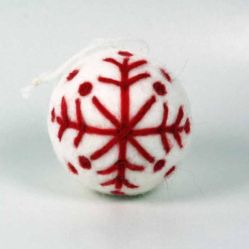 White Felt Nordic Ornament (H1-1064W)