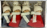 Tomte w/Knit Red and Grey Clothes Ornaments (H1-1224)