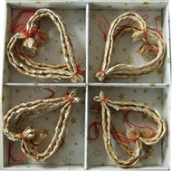 Straw Heart Ornaments (H1-1297)