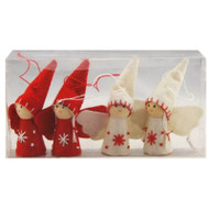 Nordic Angel Ornaments - 4 pack - Red & White (H1-1595)