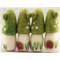 "Mushroom House Ornaments - 4 pack - 3 1/2"" (H1-1684)"