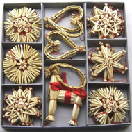 Straw Ornament Assortment - 36 Pc's (H1-1705)