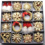 Straw Ornament Assortment - 48 Pc's (H1-1729)