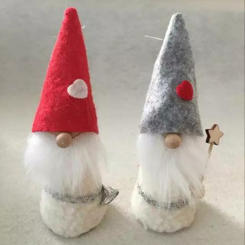 Sheepskin Gnome Ornaments - 2 Pack (H1-1921)