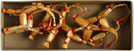 Straw Goat Ornaments 6-pack (H1-585)