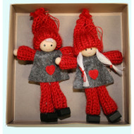 Boy and Girl Tomte Yarn Ornaments (H1-809)