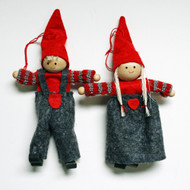 Boy and Girl Tomte Yarn/Felt Ornaments (H1-815)