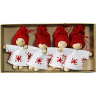 Tomte-Santa Girl Ornaments (H1-879)