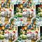 Wrapping Paper - God Jul Santas Scenes (4360)