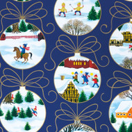 "Christmas Wrapping Paper - Ornaments - 23"" x 72"" (15632)"