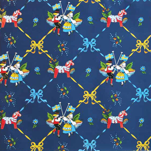 """Wrapping Paper - Dala Horse and Dancers - 23"""" x 72"""" (95050)"""