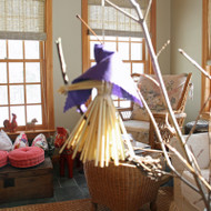 Kitchen Witch Large Ornament - Purple (3821P)