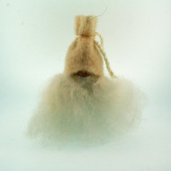 "Tomte w/White Wool Hat & Fur Beard - 4 1/2"" (7017W)"