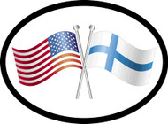 Finland/USA Friendship Flags Car Decal (1328)
