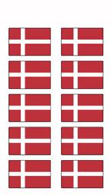 Denmark Flag Stickers - Pack of 60 (2546)