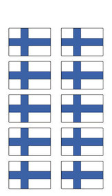Finland Flag Stickers - Pack of 60 (2559)
