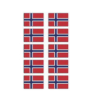 Norway Flag Stickers - Pack of 60 (2631)