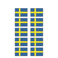 Sweden Flag Stickers - Pack of 60 (2668)