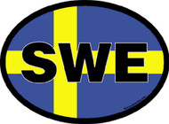 Sweden Car Decal (3368)