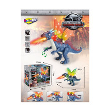"11.75"" Dino Valley Blue Dragon Dinosaur with Light and Sound - Battery Operated"