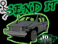 Fucking Send It Green Van Window Sticker