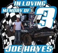 Jay Oberg In Memory of Joe 7 inch Window Sticker