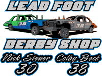 Colby Beck Leadfoot Window Sticker 7 inch