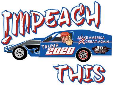 Impeach This Race Car Window Sticker