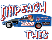 Impeach This Race Car Window Sticker
