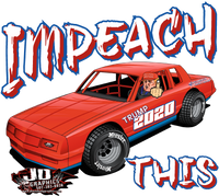 Impeach This Stock Car Window Sticker 8x7