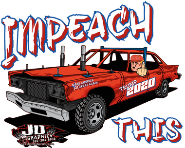 Impeach This Old Iron Window Sticker 8x7