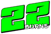 Ronny Burns 8x5 window sticker