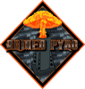 Armed Pyro Stickers 3x3