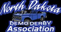 North Dakota Demo Derby Blue Truck 8x4 Sticker