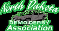 North Dakota Demo Derby Green Compact 8x4 Sticker
