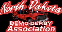 North Dakota Demo Derby Red Old Iron 8x4 Sticker