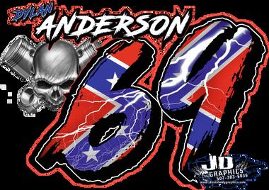 Dylan Anderson 8x6 Window Sticker